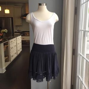 Rebecca Taylor navy short skirt